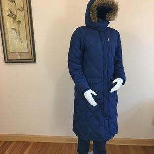 Lands End women coat puffer quilted